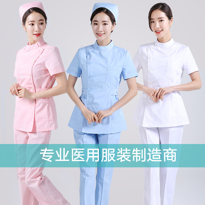 New Medical Nursing Scrubs Lab Coat Hospital Short Sleeve Work Uniforms Surgery Beauty Salon Uniform Pharmacy Womens Scrub Sets
