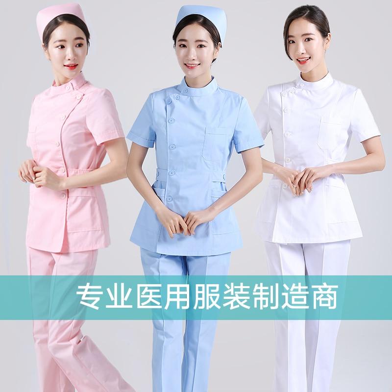 New Medical Nursing Scrubs Lab Coat Hospital Short Sleeve Work Uniforms Surgery Beauty Salon Uniform Pharmacy Womens Scrub Sets