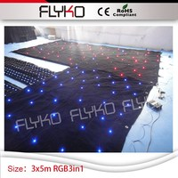 Factory wholesale price wedding club fireproof indoor flexible led star screen 3m*5m
