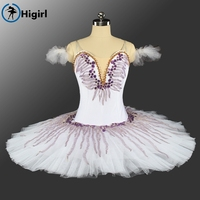 2017 New Adult Women Velvet Purple Style Ballet Tutu Classical For Competiton Professional Ballet Costumes BT9146