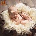 Monkids Newborn Fotografia Props Bebê Blanket & Panos Fotografie Achtergronden Infantil adereços Cobertores Tapete Mão-tecido De Pele