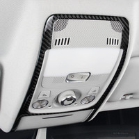 Carbon Fiber Car Roof Front Reading Lamp Frame Decoration Cover Trim For Audi A4 B8 2009 2016 Auto Interior Accessories