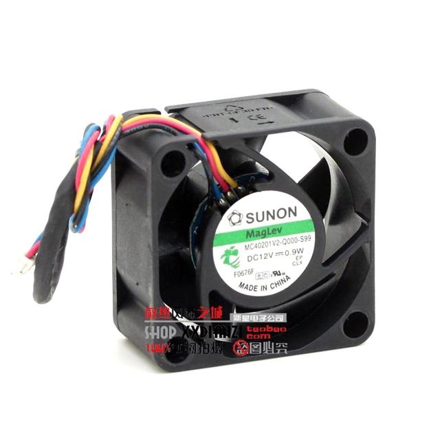 MC40201V2-Q000-S99 Original 4020 0.9 W 12 V PWM 4 fios ventilador de refrigeração