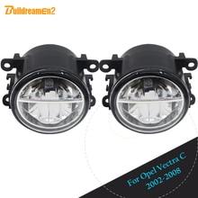Buildreamen2 светодиодный светодиодные лампы 4000LM противотуманных фар DRL дневные бег лампа для Opel Vectra C 2002 2003 2004 2005 2005 2006 2007 2008