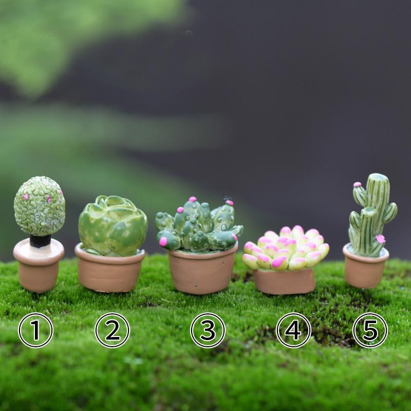 Wholesale 5pcs Lot Plant Diy Resin Fairy Garden Craft Decoration