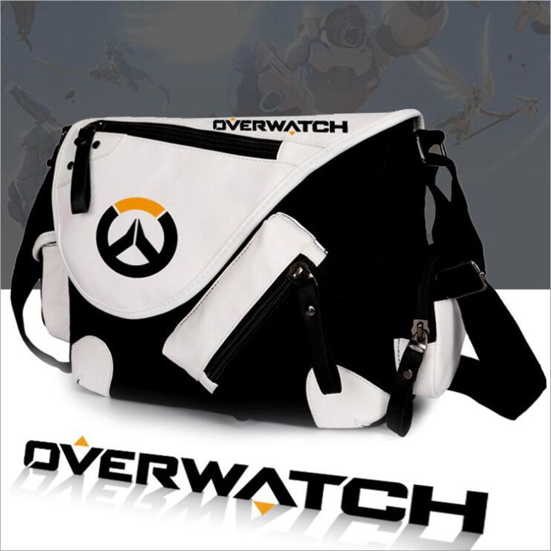 WILDHEROGame OW Shoulder Bags Vintage classic Canvas Crossbody Bags Overwatch Handbags cartoon Travel school bags Messenger Bags