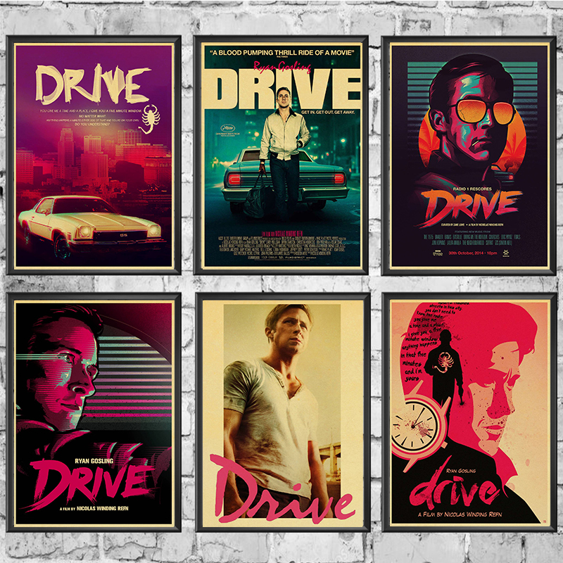 Drive Ryan Gosling Movie Poster Kraft Paper Printed Wall Posters Art Home Room Painting Wall Picture/Stickers