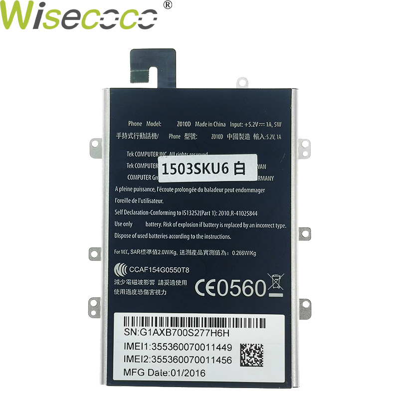 Wisecoco 2PCS New Original C11P1508 With iron frame 5000mAh <font><b>Battery</b></font> For <font><b>ASUS</b></font> Zenfone Max ZC550KL Z010AD Z010DD <font><b>Z010D</b></font> Z010DA image