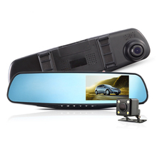 4.3″160 Wide Angle Full HD 1080P Car Dvr Camera Night Vision G-Sensor Dash Cam Dual Lens Rearview mirror Video Recorder Vehicle