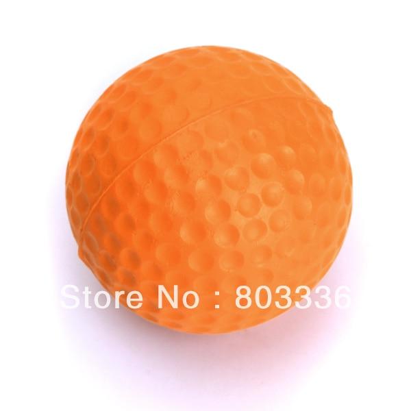 Free Shipping 5pcs PU Golf Ball Golf Training Soft Foam Balls Practice Ball - orange