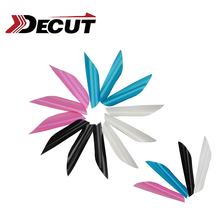50pcs 1.75inch Archery Spin Lastic Feathers Rotating Fletching For Outdoor Hunting Shooting Games Accessories двухсторонний фалоимитатор adrien lastic twins