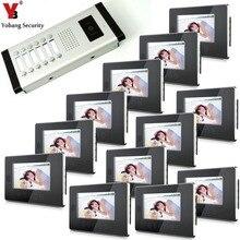 Yobang Security 12 Apartment/Family Access control 7 Inch Color Screen Video Intercom Door Phone Waterproof HD Doorbell Camera
