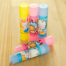 1pc Small Size Cute Kawaii Cartoon Plastic Strong Adhesive Solid Glue Stick For Paper File Office School Supplies Stationery