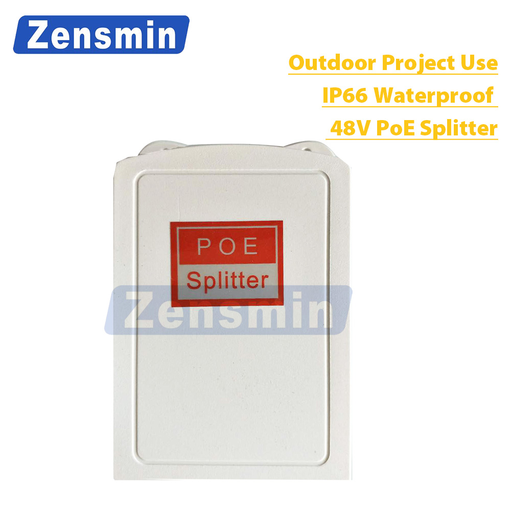 Zensmin IEEE802.3af/at IP66 Outdoor PoE Splitter work with Non PoE IP Camera to work with PoE Switch PoE NVR 120Meter LAN Cable china at work