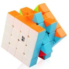 Прозрачный пазл Mofangge QiYi QiYuan S 4X4x4 Magic куб головоломка Скорость Cube 4×4 обучающая игрушка куб для детей начинающих