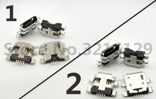 цена на 100PCS Micro USB Jack socket connector charging port data dock plug For Asus zenfone5/6/ Nexus7 Power Charger Connector Socket