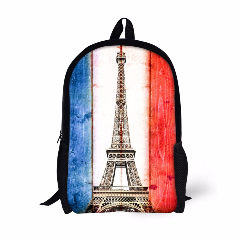 Noisy Designs Bag Eiffel Tower Backpack For Teenager Boys Girls Bookbags Printed Mens Sc ...