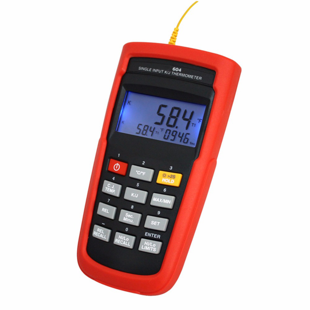 K TYPE or J TYPE Single Channel Thermocouple Thermometer Meter TASI 604