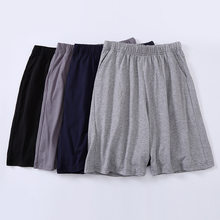 Summer Sexy Men's Sleep Bottoms 100% Cotton Sleep&Lounge Shorts Men Cofy Sleepwear Male Short Lounge Plus XXXXL Homewear(China)