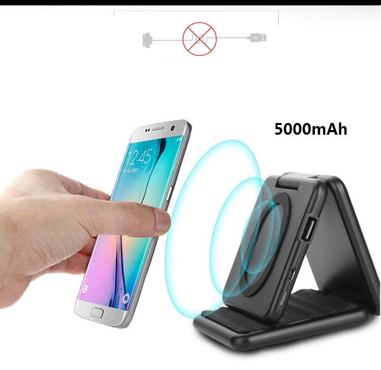 Ifavor nuevos stents teléfono móvil cargador inalámbrico banco de la energía del