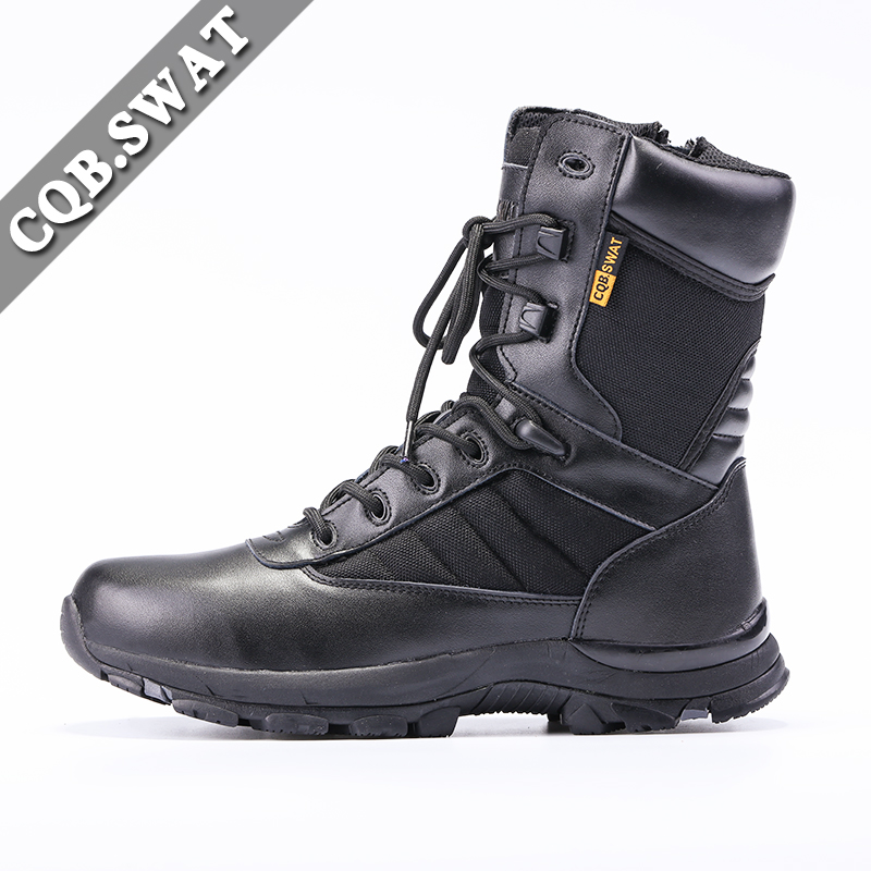 be7989489b4 Winter Military Combat Black Boots Mens Winter Army Tactical Boots ...
