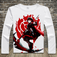 New RWBY T Shirt Anime Long Sleeve T Shirts Spring Autumn Fashion Men Women Tees Tops
