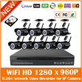 Nvr 8ch And Hd 9pcs 960p Wi Fi Bullet Ip Camera Surveillance Kit Wireless Set Outdoor Waterproof Night Vision Security Cctv Hot