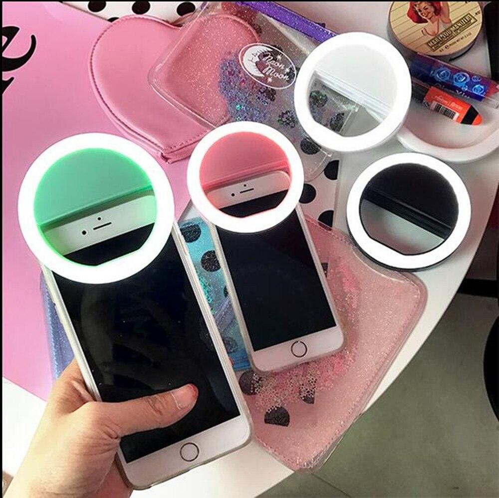 Селфи кольцо зеркало для макияжа чехол для Samsung Galaxy <font><b>S7</b></font> край широкий A3 A5 (2016) светодиодная вспышка до Android крышки мобильного телефона