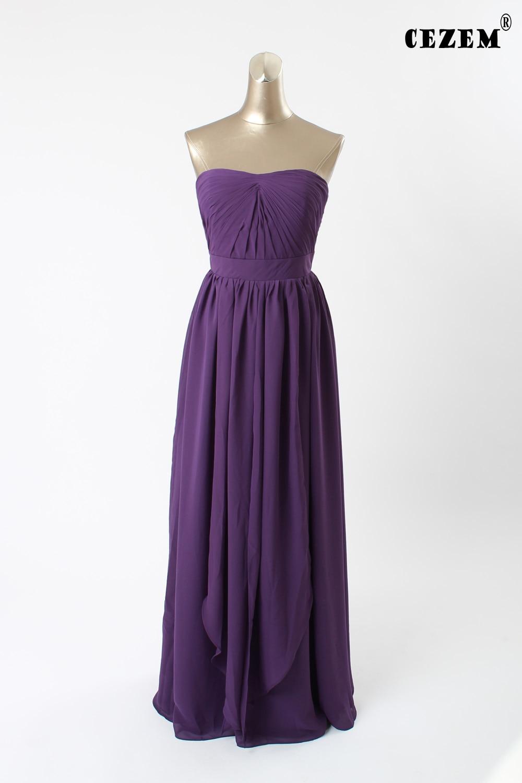 Vestidos de dama de honor Convertible Púrpura Oscuro Colores Disponibles Gasa La