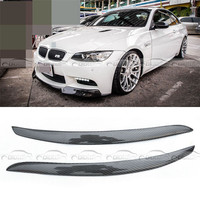 OLOTDI Real Carbon Fiber Car Eyelid For BMW E92 3 Series 2008 Front Headlamp Eyebrows Car