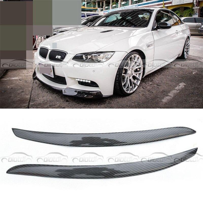 OLOTDI réel Fiber de carbone voiture paupière pour BMW E92 3 série 2008-avant phare sourcils voiture style voiture accessoires ventes d'usine