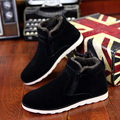 Size 37-45 Autumn winter men warm snow boots Casual with short plush ankle boots Height Increasing rubber zip men shoes