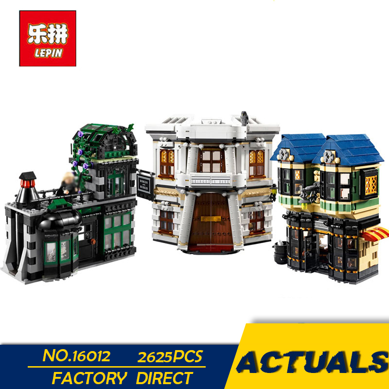 LEPIN 16012 2025Pcs Magic Word Diagon Alley Set Educational Building Blocks Bricks Model Toys Gift 10217 lepin 16012 diagon alley building bricks blocks toys for children boys game model car gift compatible with bela decool 10217