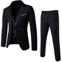 Jacket Pant Vest New Plus Size 6xl Mens Suits Wedding Groom Good Quality Casual Men