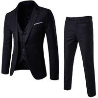 Jacket Pant Vest New Plus Size 6xl Mens Suits Wedding Groom Good Quality Casual Men
