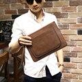 Vintage Crazy Horse Pu Leather Messenger bag iPad Mini Bag Envelope Leather Shoulder Bag Men Clutch Wallet Bag Pocket