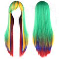 11 Colors Long Cosplay Hair Wigs Women Synthetic Hair Colorful Full Lace Wig 70cm