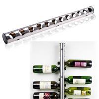 Stainless Steel Wine Rack Bar Wine Rack Bar Wall Mounted Kitchen Holder For 12 Bottles