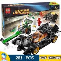281pcs Batman Bela 10227 DC Comics The Riddler Chase The Flash Super Heroes DIY Building Blocks