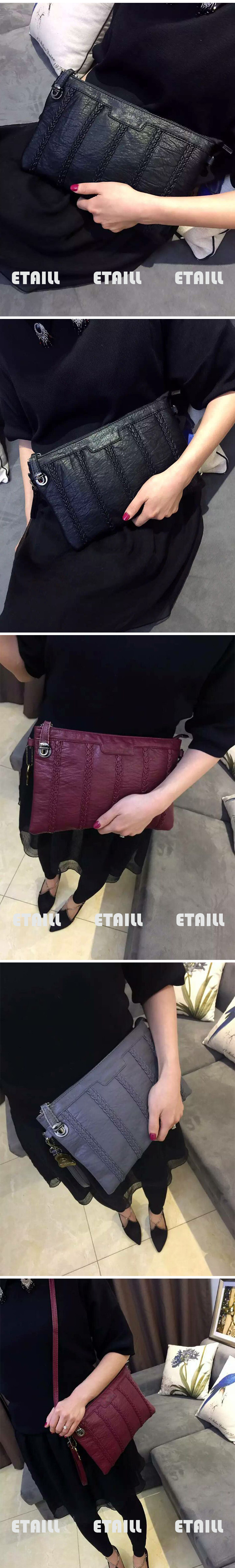 knitted bag leather