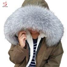 Cuello de piel de mapache Real para mujer, 100% de piel Natural con cuello gris, chal de piel de mapache, cuello removible de piel 2020, envío gratis