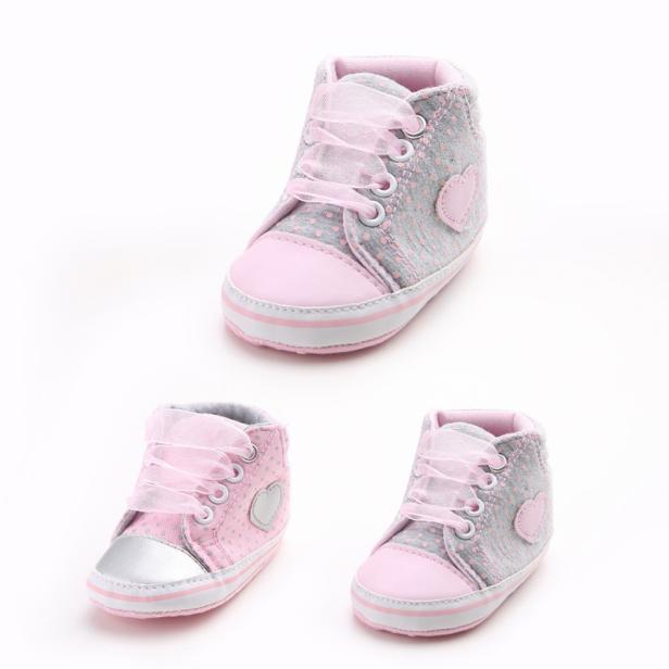 2017 Girl Canvas Shoe Baby Boys Shoes Sneaker Anti-slip Soft Sole Toddler BFOF