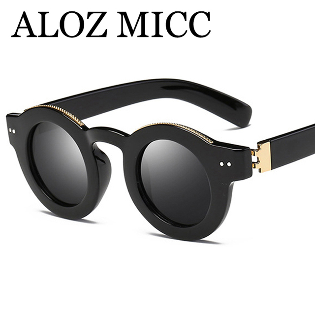 ALOZ MICC Hot Small Round Polarized Sunglasses Women Vintage Men Acetic Frame Eyewear Driving Outdoor Sun Glasses UV400 Q153