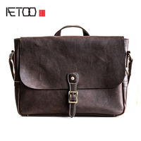 AETOO Original first layer of leather Messenger bag male leather shoulder bag college postman bag handbag