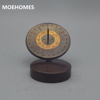 MOEHOMES Rare collection of Chinese ancient bronze brass timepieces, classical family tabletop decorative metal crafts
