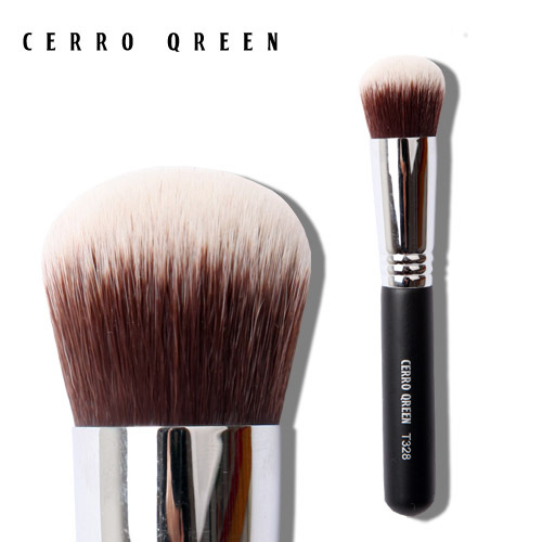 Cerro qreen t series long-lasting antibiotic round toe foundation brush cream blush