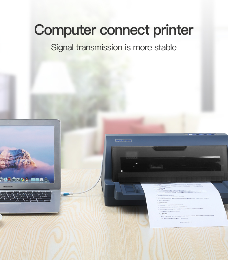 Vention USB 2.0 Type A Male To B Male Cable To Sync Data In Scanner And USB Printer 2