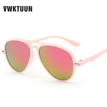 VWKTUUN Kids Sunglasses Children Aviator Style Brand Design Boys Sun Glasses UV400 Protection Outdoor Sport Girls Sunglases