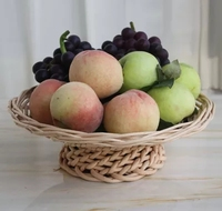 Rattan high grade fruit plate desktop fruit plate coffee table fruit plate snack basket wicker candy tray display basket