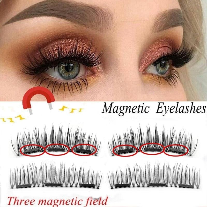 Magnetic Eyelashes Extension 3D Flase Eyelashes On The
